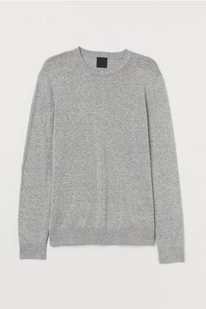 Fine-knit Sweater - Gray melange - Men | H&M US