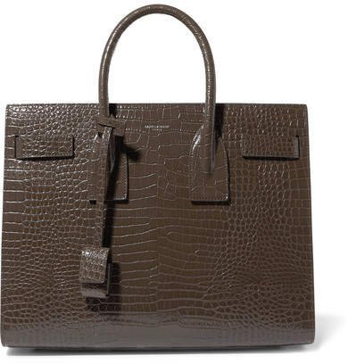 Sac De Jour Small Croc-effect Leather Tote - Taupe