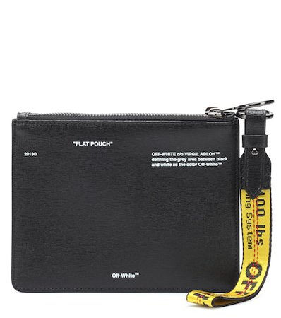 DiagDouble Flap leather pouch