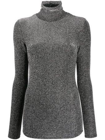 Shop black Isabel Marant lurex turtleneck jumper with Express Delivery - Farfetch