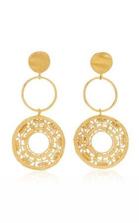 Sonso 24k Gold-Plated Earrings By Cano   Moda Operandi