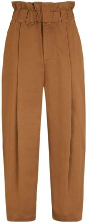 Paperbag-Waist Tapered Trousers