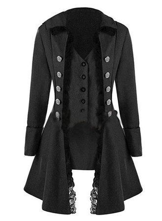 Amazon.com: ZLY Women's Victorian Steampunk Gothic Corset, Gothic Tailcoat Steampunk Jacket, Tuxedo Suit Coat Victorian Costume (l, Coffee): Clothing