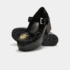 Della Black Velvet Witchy Mary Janes | Koi