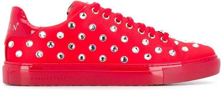 Crystal Embellished Low-Top Sneakers