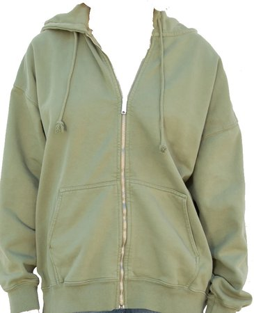 Brandy Melville Green Zip-up jacket