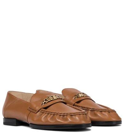 Tod's - Embellished leather loafers   Mytheresa