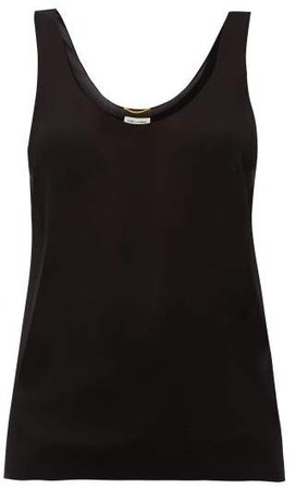 Silk-georgette Cami Top - Womens - Black