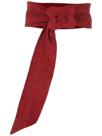 Red Sarah Chofakian Vintage Suede Belt   Farfetch.com