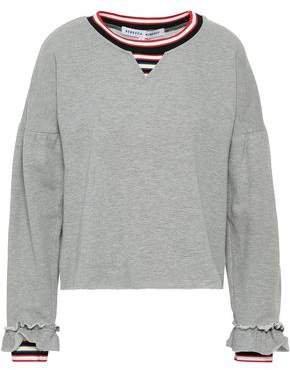 Striped Cotton-blend Fleece Sweatshirt