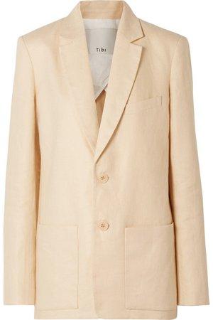 Tibi   Oversized linen blazer   NET-A-PORTER.COM