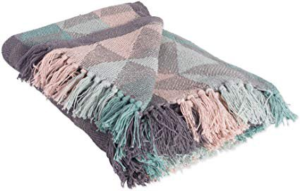 DII Rustic Farmhouse Cotton Jacquard Blanket Throw with Fringe for Chair, Couch, Picnic, Camping, Beach, Everyday Use, 50 x 60 - Triangle Jacquard Urban: Amazon.ca: Home & Kitchen