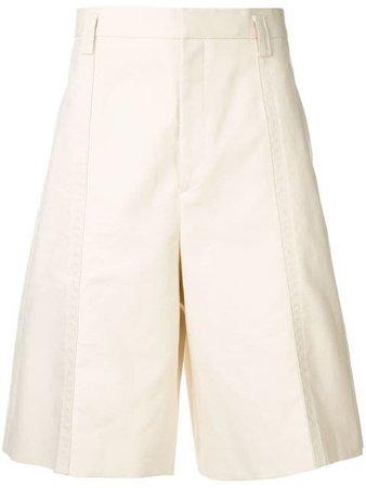 Jil Sander Wide Leg Chino Shorts JSUO311531 White | Farfetch