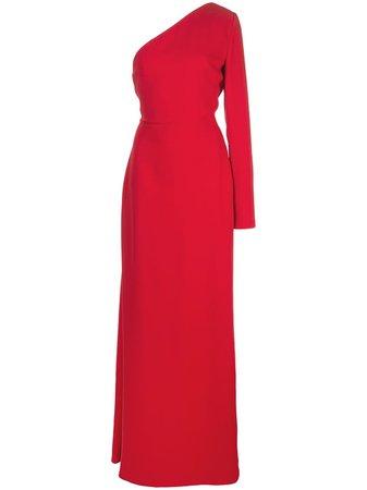 Carolina Herrera, One-Shoulder Silk Gown