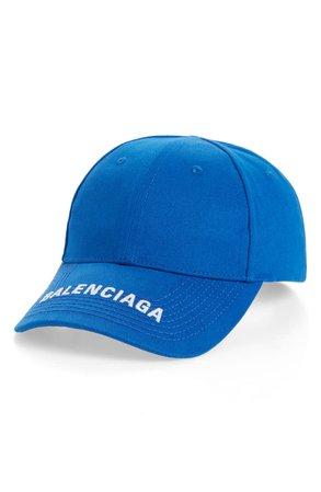 Balenciaga Logo Embroidered Baseball Cap | Nordstrom