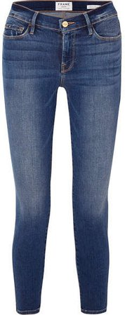 Le Skinny De Jeanne Cropped High-rise Jeans - Dark denim