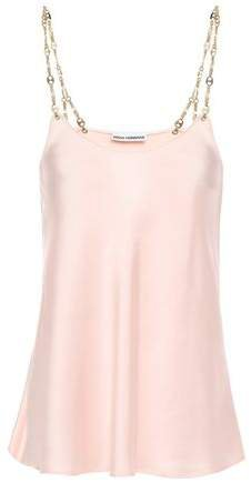Chain-trimmed Satin Camisole