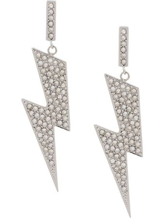 Isabel Marant Flash Embellished Earrings BL084919A014B Silver | Farfetch