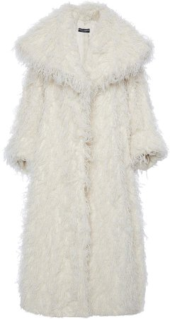 Dolce & Gabbana Exaggerated Faux Fur Coat