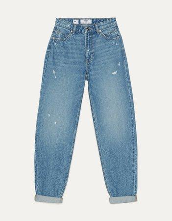 High waist mom jeans - New - Bershka United States