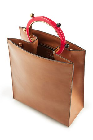 Marni - Pannier Leather Bag - brown