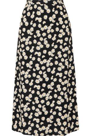 Reformation | Bea floral-print crepe midi skirt | NET-A-PORTER.COM