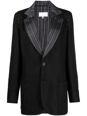 Maison Margiela, contrasting-lapel tailored blazer