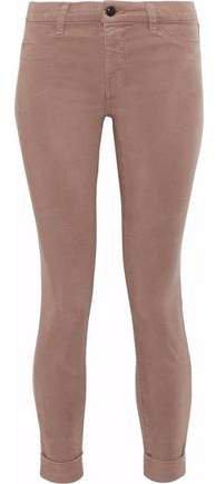 Anja Cropped Tencel-blend Brushed-twill Skinny Pants