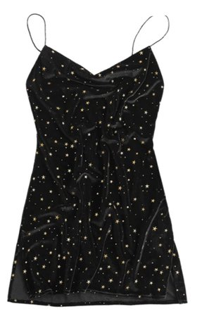 black stars short dress