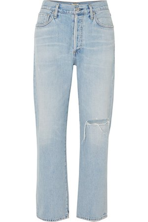 Citizens of Humanity | McKenzie distressed mid-rise straight-leg jeans | NET-A-PORTER.COM