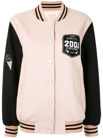 BAPY BY *A BATHING APE® Colour Blocked Varsity Jacket - Farfetch