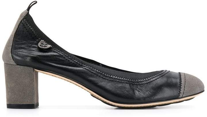 Pre-Owned 2000's contrasting toe pumps