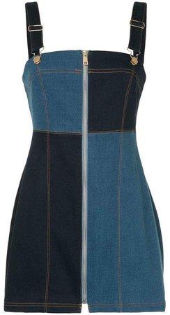 Electric Memories Two-tone Mini Dress
