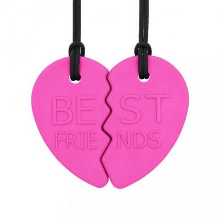 BEST FRIENDS Split Heart chewelry set XT Hot Pink - Kousák
