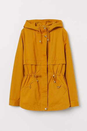 Short Cotton Parka - Yellow