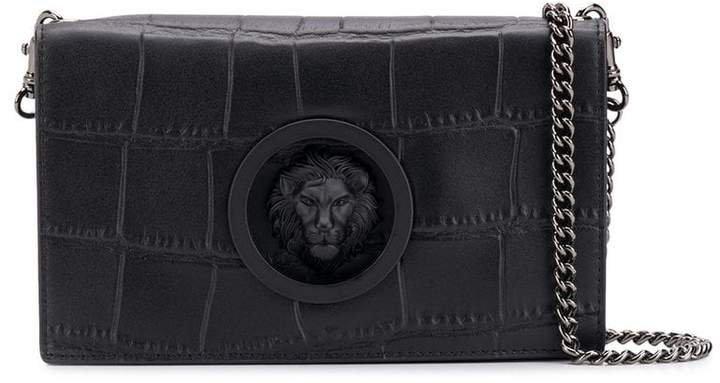 Lion plaque crossbody bag