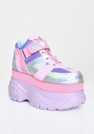 Sugar Thrillz Pastel Colorblock Platform Sneakers | Dolls Kill