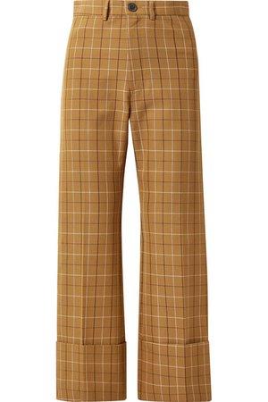 SEA   Poirot cropped checked cotton-blend twill straight-leg pants   NET-A-PORTER.COM