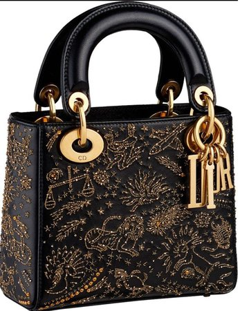 black zodiac Dior bag