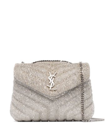 Saint Laurent Loulou embellished shoulder bag