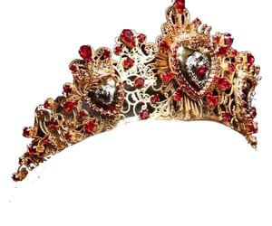 Ruby Red & Gold Crown