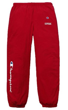 Supreme Champion Track Pant- Dark Red – Streetwear Official