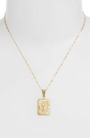 Bracha Initial Pendant Necklace | Nordstrom