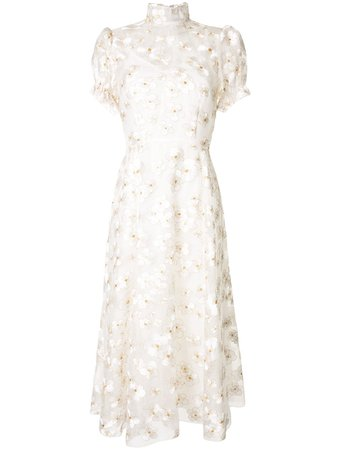 Shop yellow Macgraw flower porcelain dress with Express Delivery - Farfetch