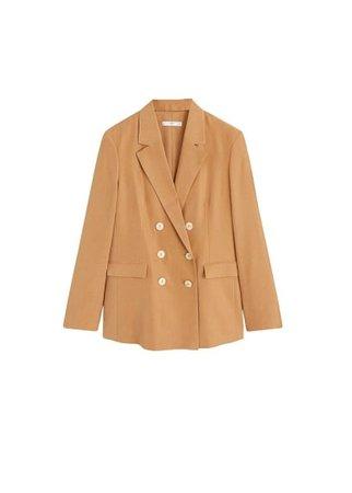 MANGO Modal-blend suit blazer