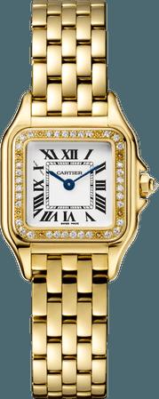 Cartier Panthère de Cartier watch Small model, yellow gold, diamonds