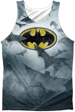 Amazon.com: Batman- Bat's Logo Tank Top Size L: Clothing