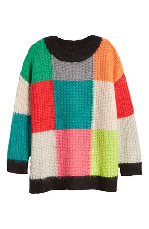 MOON RIVER Colorblock Sweater