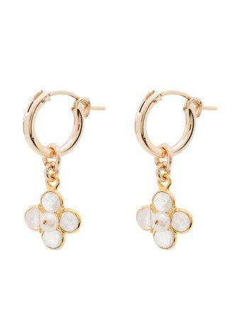 Brinker & Eliza Pearl Detail Drop Hoop Earrings - Farfetch