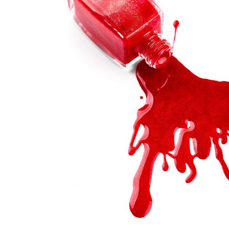 red nail polish spilled